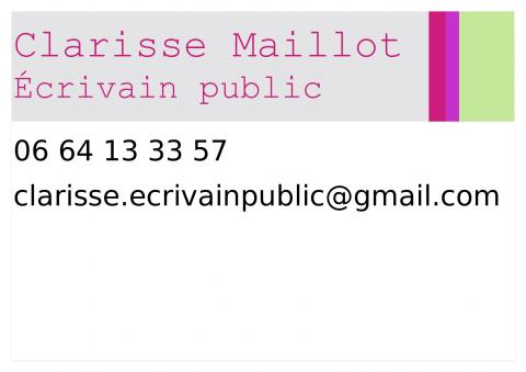 Clarisse Maillot – Écrivain Public
