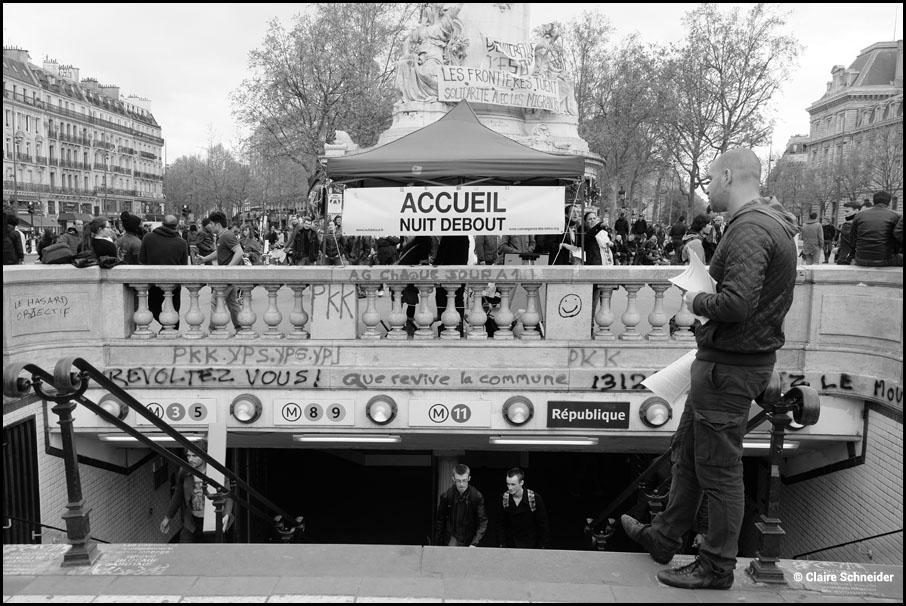 Nuit Debout reportage photographique claire schneider